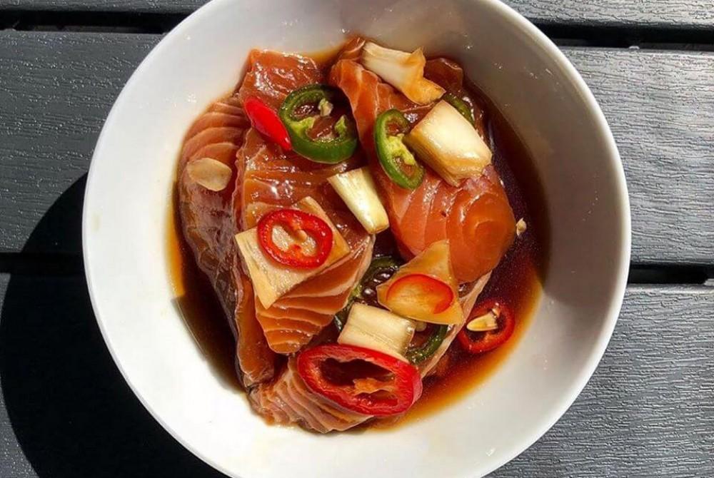 Cá hồi ngâm tương – Đậm vị đưa cơm